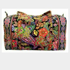 1-day SALE Vera Bradley Large Duffle Bag Charming pattern. Perfect for a weekend getaway. Fits more than you'd expect. Vera Bradley Bags Travel Bags