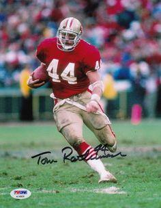 TOM RATHMAN SIGNED 8X10 PHOTO PSA/DNA COA SAN FRANCISCO 49ERS 1