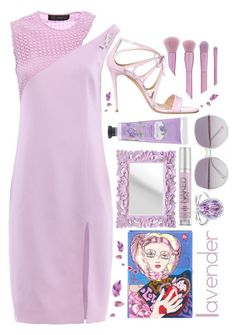 For the love of lavender by sunnydays4everkh on Polyvore featuring polyvore, fashion, style, Versace, Casadei, Olympia Le-Tan, Kobelli, Chloé, Forever 21, Urban Decay and clothing