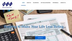 New for Tax Preparer business in MD. Tax Preparation, Responsive Web, Accounting, Website, Business, Life, Store, Business Illustration