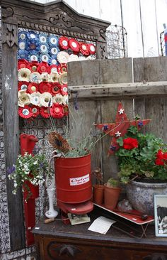 Make a patriotic horse show ribbon flag for 4th of July decor.
