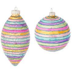 RAZ Candy Sprinkles 3 inch Striped Christmas Ornament