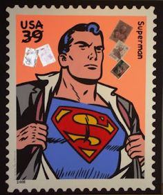 Superman, created by american writer Jerry Siegel and canadian born american artist Joe Shuster