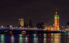 """""""London by Night"""" -- #wallpaper by """"kostavs"""" from http://interfacelift.com -- Big Ben and the Houses of Parliament in London.  Adobe Lightroom 5. -- Available as #wallpapers in any resolution at: http://interfacelift.com/wallpaper/details/3516/london_by_night.html"""