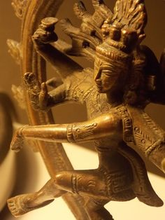 ANTIQUE INDIA NATRAJ NATARAJA DANCING GOD SHIVA BRONZE STATUE FIGURE 19.7 cm H