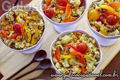 Salada de Couve Flor com Salmão » Peixes e Frutos do Mar, Receitas Saudáveis, Saladas » Guloso e Saudável
