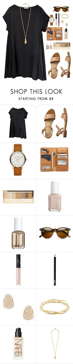 """""""swing dress"""" by classically-preppy ❤ liked on Polyvore featuring Gap, Marc by Marc Jacobs, Essie, NARS Cosmetics, Kendra Scott and J.Crew"""