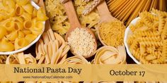 National Pasta Day October 17