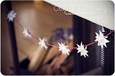 Moravian Stars garland tutorials  1/4 inch by 8.5 inch strips