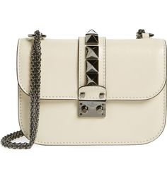 Main Image - Valentino Small Rockstud Leather Shoulder Bag