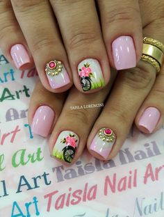 Linda Magic Nails, Nail Decorations, Nail Spa, Flower Nails, Nail Care, My Nails, Nail Designs, Nail Jewels, Enamel