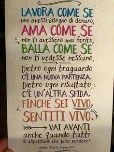Meaningful Quotes, Inspirational Quotes, Italian Phrases, Italian Language, Magic Words, Beautiful Words, Life Lessons, Quotations, Self