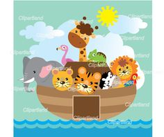 INSTANT DOWNLOAD. Noah's Ark . Personal and by clipartland on Etsy