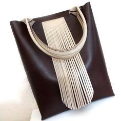 Tote cумка с бахромой leatherbag handbags tote