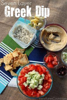 Seven Layer Greek Dip | Katie's Cucina