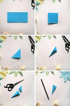 Dekoracje świąteczne z papieru. Gwiazdki i śnieżynki | Paper Art, Triangle, Hollywood, Symbols, Letters, Christmas, Cards, Diy, Paper