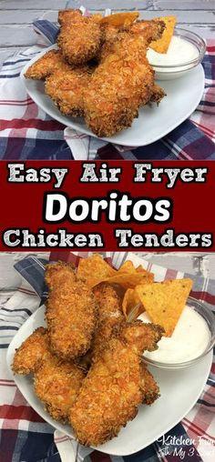 Doritos Air Fryer Chicken Tenders recipe | Air Fryer Recipes #doritos #airfryer #chickentenders #dinnerrecipes