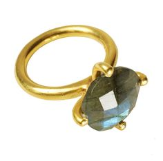 Labradorite And Gold Clasp Ring http://www.notonthehighstreet.com/florabee/product/labradorite-and-gold-clasp-ring
