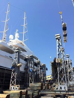 The work aboard our 48m Oceanfast #yachts built #superyacht client continues as our team removes her fold under passarelle for service in STP Shipyard Palma - Best location for refit & repair in Mallorca We have a full team in the shipyard all summer long for ongoing summer projects and any emergencies needed over the busy summer months. Contact info@marinehydraulicsolutions.com #WeKnowYourHydraulics www.marinehydraulicsolutions.com