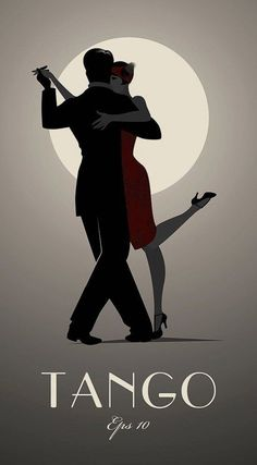Tango by moonlight. Romantic, sensual and sexy when you dance the dance of the heart in the streets of Buenos Aires and you can feel the Tango take over your body. Salsa Dancing, Dirty Dancing, Shall We Dance, Lets Dance, Tango Art, Dancing Drawings, Tango Dancers, Art Deco Posters, Dance Posters