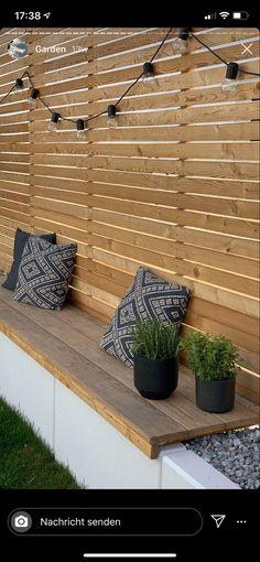 Back Garden Design, Patio Design, Small Backyard Landscaping, Backyard Patio, Back Gardens, Outdoor Gardens, Contemporary Garden, Garden Seating, Outdoor Living