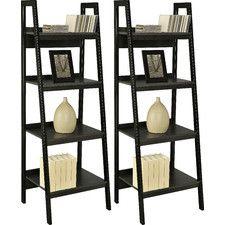 "4 Shelf Ladder 60"" Accent Shelves (Set of 2)-129"