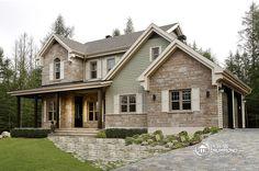Superbe maison champêtre, Plan de Maison unifamiliale W3862-V1