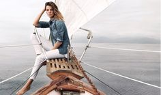 Daria Werbowy, AG Jeans Spring 2015 campaign