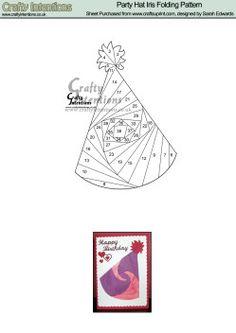 Home : Iris Folding : Birthday : Party Hat Iris Folding Pattern