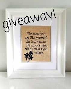 I'm so excited to be partnering up with @_viewthroughmylens to share her beautiful burlap designs! Enter to win this design [ o my favorite Walt Disney quote o ] by simply following these steps: 1 Like this pic 2 Make sure you're following both @_viewthroughmylens and @theuniqueclassroom 3 Comment below what state you're from! (I'm in Southeastern PA!) Giveaway ends Tuesday at 9PM EST #uniquequotegiveaway frame not included in giveaway