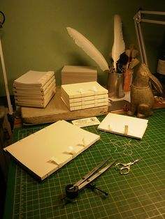Bookbinding. Ah, this is beautiful. Can't wait to get back into it. <3  Great self publish bookbinding resource idea