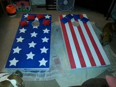 Latest project... new corn hole boards and bags.