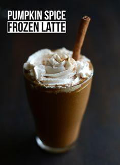 Pumpkin Spice Frozen Latte
