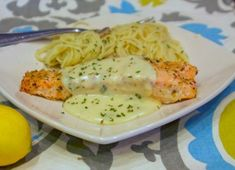 Grilled Salmon with Lemon Thyme Sauce. Grilling salmon is a favorite way to cook this fish and the sauce is the perfect compliment.