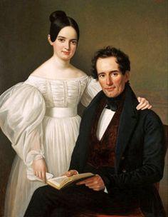 """""""Edmond Jeane Forstall and Desirae Forstall"""" -- by Jean Joseph Vaudechamp (French-born New Orleans artist, 1790–1866)"""