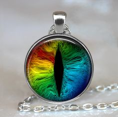 Rainbow Dragon Eye pendant Dragon jewelry by thependantemporium