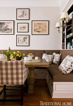 Places In The Home- dining room idea for table
