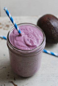 Blueberry Avocado Smoothie #blueberry #avocado #smoothie