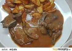Vepřová chilli játra recept - TopRecepty.cz Slovak Recipes, Stew, Sweet Home, Food And Drink, Pork, Menu, Treats, Fish, Kitchen