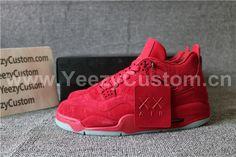 US$ 180.00 Authentic Air Jordan 4 Retro Kaws X All Red