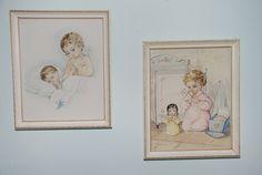 Vintage Framed PrintSet Of Two by Nogginsandnapes on Etsy, $18.75