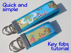 Quick and simple, sewn ribbon key fob TUTORIAL ~ So Sew Easy