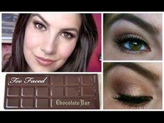 ▶ Too Faced Chocolate Bar Palette Tutorial - YouTube burgundy e oro