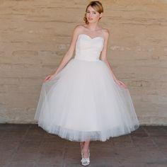 Bonnie tea length tulle wedding dress from Ruffled shop ~ so sweet
