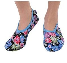 Snoozies Conversationals Women's Lightweight Skinnies Footcovering Slippers Slipper Socks, Slippers, Tired Feet, Floral Patterns, Hosiery, Heeled Mules, Hardwood, Two By Two, Plush