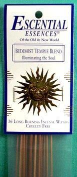 Buddhist Temple Escential Essences Incense Sticks 16 Pack
