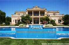 Big Mansions With Pools carproperty / big garage mansion for big wealth in beverly