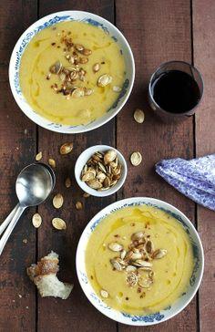Pumpkin, lime, & coconut soup.