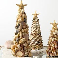 Theme: candle centerpiece, cheap home decorations, craft ideas, sea shell decor, seashell candles, table centerpieces, table decor, table decorations Source: Country Living Hanging Shell Win…