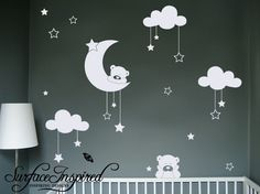 Nursery Wall Decals Nursery Cuddly Bears Vinyl Wall Decal SUR301. $65.00, via Etsy.